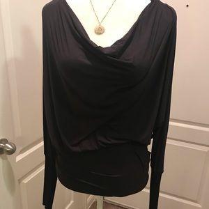 ‼️So cute black blouse with zipper detail‼️
